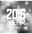 label for the new 2016 blurred red vector image