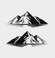 mountain range or rock nature vector image