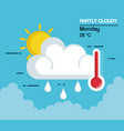 partly cloudy weather icon vector image