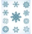 Snowflake set vector image