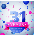 Thirty one years anniversary celebration on grey vector image
