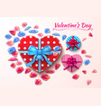 valentine day gift boxes heart shape vector image