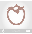 Persimmon outline icon Tropical fruit vector image