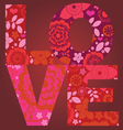 valentine day love message floral post card vector image vector image