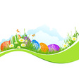 Beautiful Easter Holiday Background vector image vector image