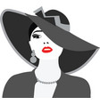 Beautiful Elegant Lady portrait vector image