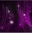 glowing futuristic lines vector image vector image