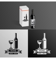 Wine Alcohol Drink Logo Symbol Bottle Glass vector image