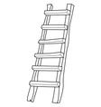 wooden ladder vector image vector image
