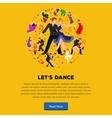 Dancing People Dancer Bachata Hiphop Salsa vector image