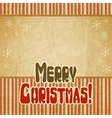 Retro Merry Christmas Background vector image vector image