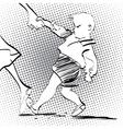 Angry baby boy vector image