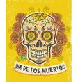 dia de los muertos poster vector image