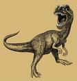 Dinosaur drawing vector image