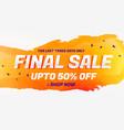 final sale discount coupon voucher design template vector image