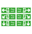 Fire exit vector image