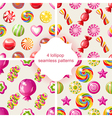 lollipop patterns vector image