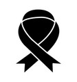 medical ribbon icon black vector image