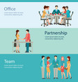 office worker business people vector image