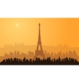silhouette of paris city vector image