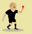 Soccer referee giving red card vector image