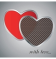 Valentins Day Card With Hearts vector image