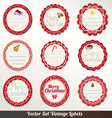 Xmas Frame labels Set vector image