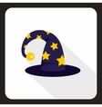 Wizard hat icon flat style vector image