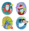 Christmas or New Year Winter Holidays greeting vector image