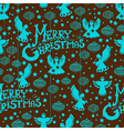 Christmas seamless background with angels vector image vector image