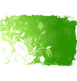 Grungy Floral Background vector image vector image