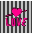 stylish love 3d text sign vector image