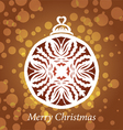 lacy snowflake christmas decoration vector image vector image