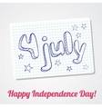 4th of july greating card vector image