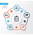 antibiotic icons set collection of diagnosis vector image