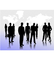 0213business people silhouettes vector image vector image