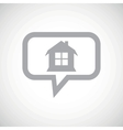 House grey message icon vector image