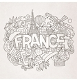 France country hand lettering and doodles elements vector image