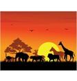 animal silhouette vector image