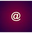 e-mail internet icon vector image