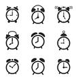 Alarm clock icons vector image
