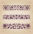 calligraphic ornaments for design vector image