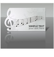 card with notes and treble clef vector image