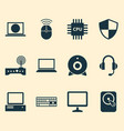 computer icons set collection of earphone vector image
