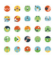 flat icon set of sports icon vector image