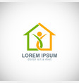 home happy family logo vector image