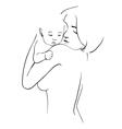 Maternal hug vector image