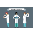 Science laboratory people set vector image