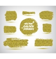 set of hand made golden strokes vector image