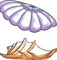 set sea shells vector image
